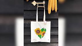 Iné tašky - ♥ Plátená, ručne maľovaná taška ♥ - 11711734_