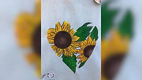 Iné tašky - ♥ Plátená, ručne maľovaná taška ♥ - 11711735_