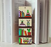 Drevená záložka do knihy - Knižnica