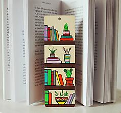 Papiernictvo - Drevená záložka do knihy - Knižnica - 11714555_