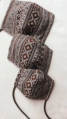 Rúška - Rúško hnedé (dámske) - 11712513_