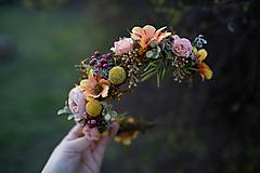 """Ozdoby do vlasov - Kvetinový polvenček """"prvé lúče"""" - 11714222_"""