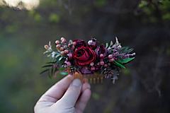 """Ozdoby do vlasov - Kvetinový hrebienok """"keď sa stmieva"""" - 11714267_"""