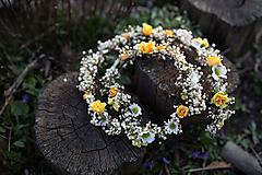 """Ozdoby do vlasov - Kvetinový pletenec """"slnkom zaliate ráno"""" - 11714394_"""