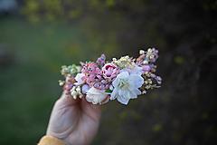 """Ozdoby do vlasov - Kvetinový štvrťvenček """"čakanie na bozk"""" - 11714465_"""