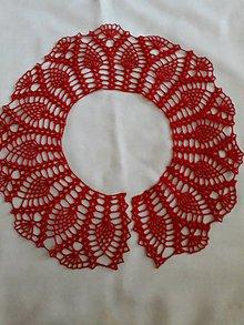Iné doplnky - Háčkovaný golier na šaty -červený - 11711731_