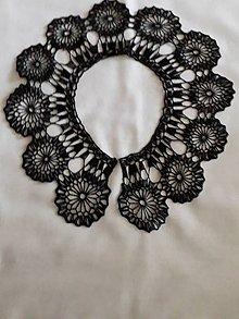 Iné doplnky - Háčkovaný golier na šaty  - čierný - 11711779_