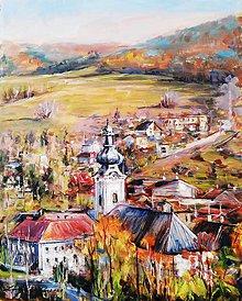Obrazy - Pohľad na Krompachy - 11713125_
