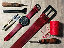 Opasky - City Go! Stanley kožený opasok a remienok na hodinky - 11712114_
