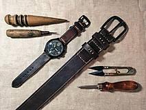 Opasky - City Go! Martin kožený opasok a remienok na hodinky - 11714055_