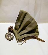 Rúška - Rúško pánske dvojvrstvové zelené s vyberateľným drôtikom - XXL - 11711526_