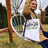 Nákupné tašky - Taška na plece / Kvetinová taška / Nákupná taška / Vyšívaná taška / Taška na potraviny - 11713333_