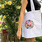Nákupné tašky - Taška na plece / Kvetinová taška / Nákupná taška / Vyšívaná taška / Taška na potraviny - 11713418_