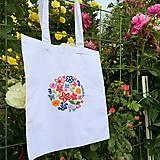 Nákupné tašky - Taška na plece / Kvetinová taška / Nákupná taška / Vyšívaná taška / Taška na potraviny - 11713419_