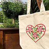 Nákupné tašky - Taška na plece / Kvetinová taška / Nákupná taška / Vyšívaná taška / Taška na potraviny - 11713438_