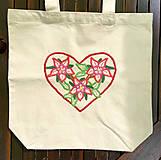 Nákupné tašky - Taška na plece / Kvetinová taška / Nákupná taška / Vyšívaná taška / Taška na potraviny - 11713440_