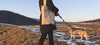 Nákupné tašky - Taška na plece / Kvetinová taška / Nákupná taška / Vyšívaná taška / Taška na potraviny - 11713657_