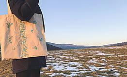 Nákupné tašky - Taška na plece / Kvetinová taška / Nákupná taška / Vyšívaná taška / Taška na potraviny - 11713660_