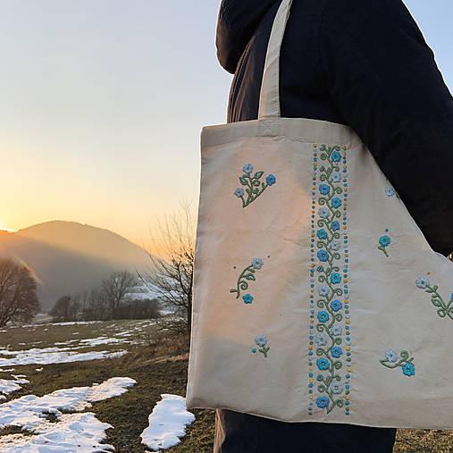 Taška na plece / Kvetinová taška / Nákupná taška / Vyšívaná taška / Taška na potraviny