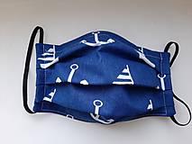 Rúška - Rúška na tvár - dvojvrstvové s drôtikom. - 11715217_