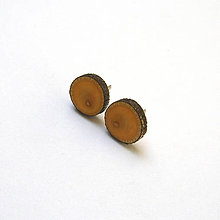 Náušnice - Drevené náušnice napichovacie - lipová halúzka do uška - 11715067_