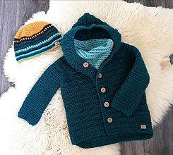 Detské oblečenie - Svetrokabatik s kapucňou - 11711630_