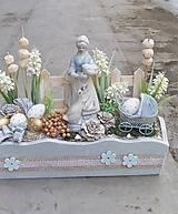 Dekorácie - Jarná dekorácia s husiarkou - 11717201_
