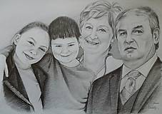 Obrazy - Starí rodičia s vnúčatami - 11716390_