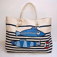 Veľké tašky - Modrobílá taška Sailor bag - 11718926_