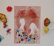 Grafika - Naša láska kvitne/ skoro z rána - 11720198_