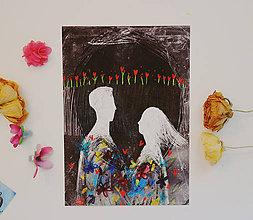 Grafika - Naša láska kvitne/ za noci - 11719843_
