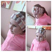 Detské čiapky - Čelenka - 11719659_
