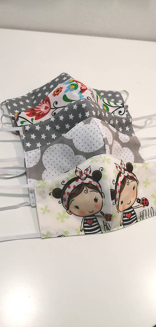 Detské dvojvrstvové rúška - prateľné
