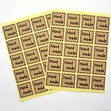 Papier - Nálepky handmade 40 ks -akcia pri nákupe servítok - 11720548_