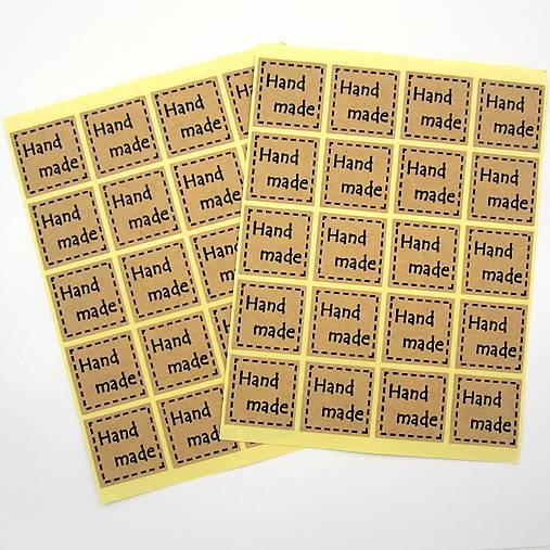 Nálepky handmade 40 ks -akcia pri nákupe servítok