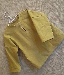 Detské oblečenie - Ľanová košieľka Janko - 11719388_