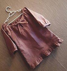 Detské oblečenie - ľanová blúzka Hanka - 11719458_