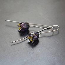 Náušnice - Náušnice fialový zvonček - 11719440_