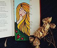 Drevená záložka do knihy - Veľa lásky