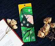 Papiernictvo - Drevená záložka do knihy - Jar milá - 11720997_