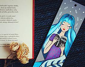 Papiernictvo - Drevená záložka do knihy - V knihách magických - 11720883_