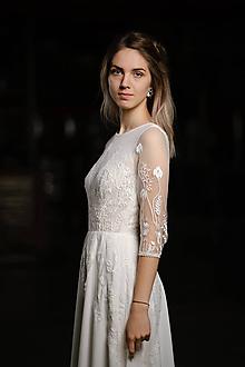 Šaty - Svadobné šaty z lúčnej krajky - 11717965_