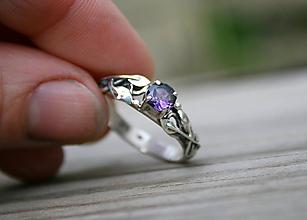 Prstene - Zásnubný prstienok pre vílu - 11717286_