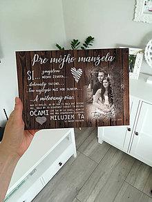 Tabuľky - Tabuľka pre manžela (tmavé drevo) - 11718490_