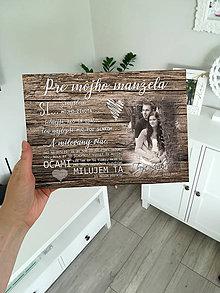 Tabuľky - Tabuľka pre manžela (svetlejšie drevo) - 11718491_