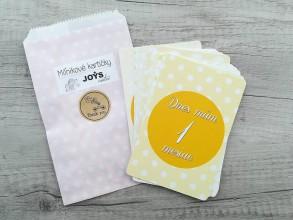 Detské doplnky - Míľnikové kartičky (Žlté, uni 1-12 mesiacov) - 11719057_