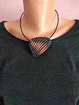 Náhrdelníky - Čierny náhrdelník - 11716926_