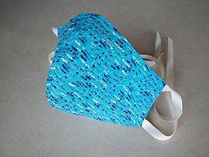 Rúška - Obojstranné rúško ľanovo-bavlnené modré - 11717156_
