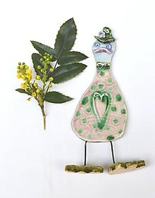 Dekorácie - Veľká noc dekorácia hus, káčer ružová - 11717921_