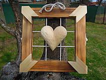 Dekorácie - Drevorezba z lásky - 11719218_